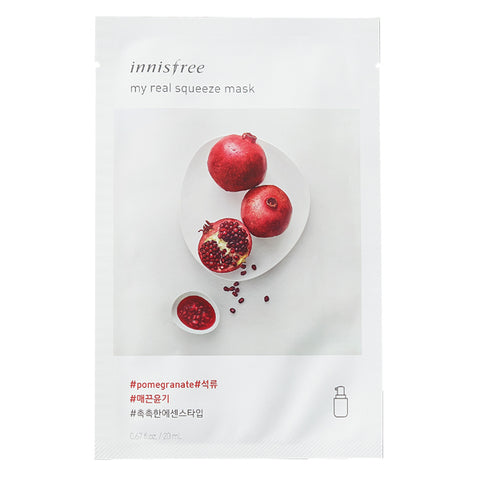 My Real Squeeze - Pomegranate, Innisfree - Mooni Mask