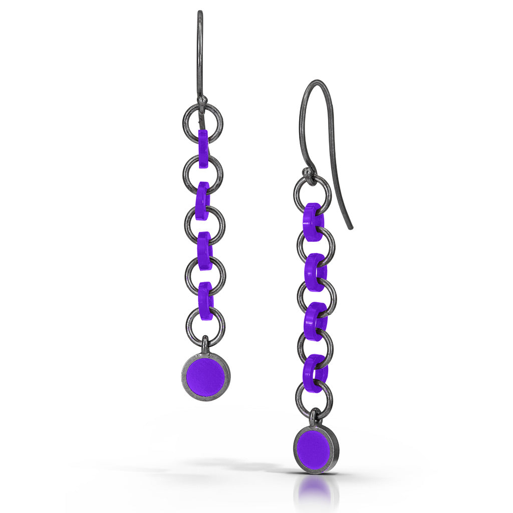 Cascade link earrings