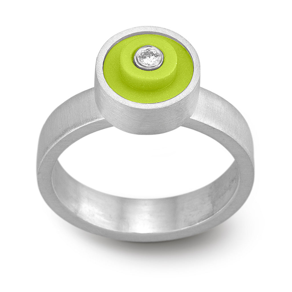LEGO® dot ring with diamond - Lime