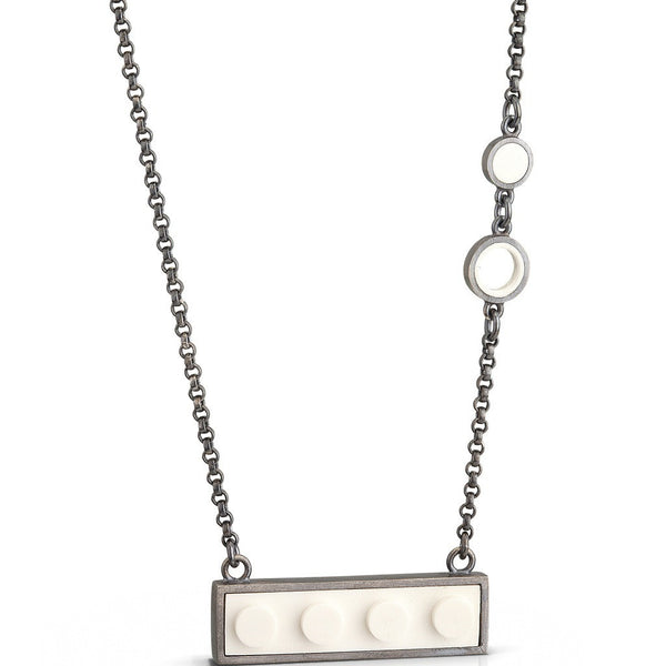 Modern bar pendant with recycled LEGO pieces and oxidized patina finish