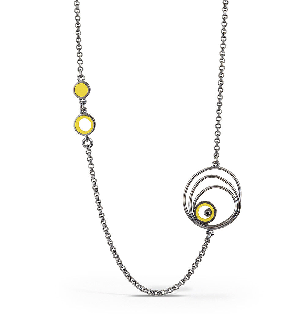 Mt. Tabor LEGO® element necklace with black diamond