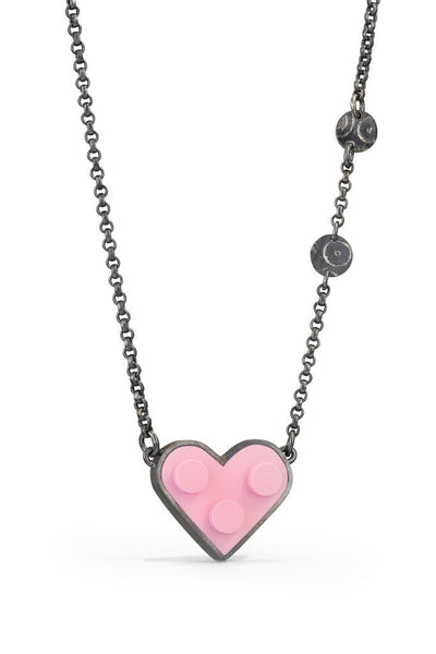 LEGO® heart necklace with accents