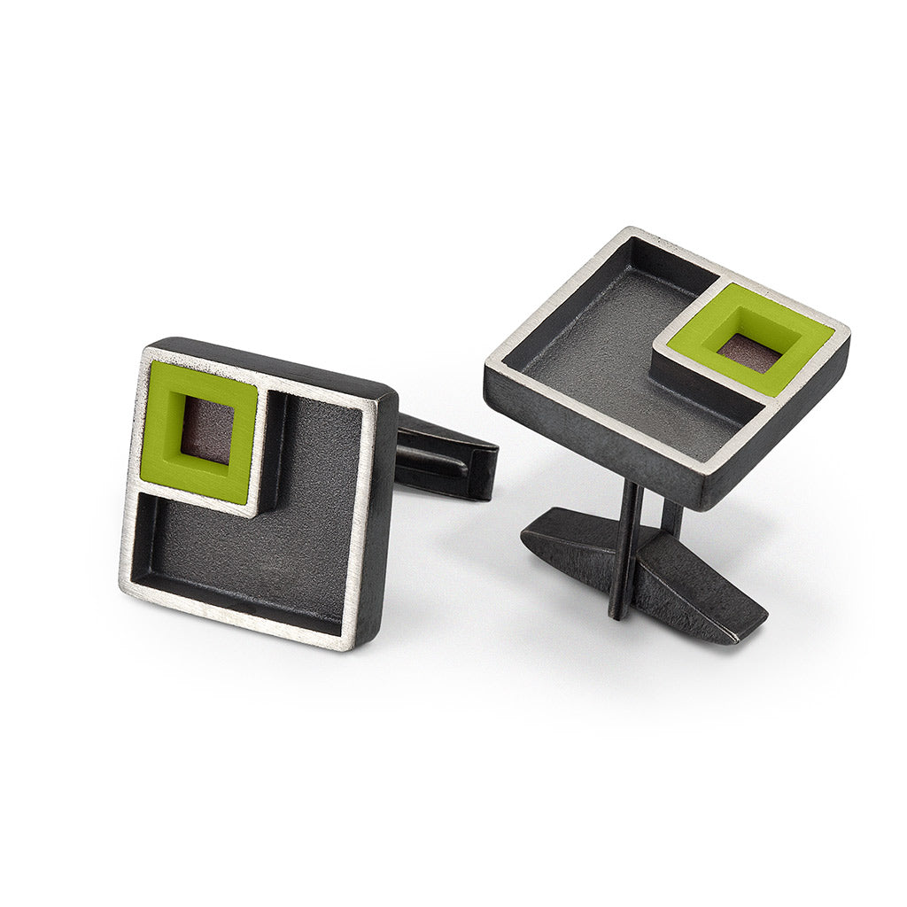 Cuff links inspired by The LEGO® house