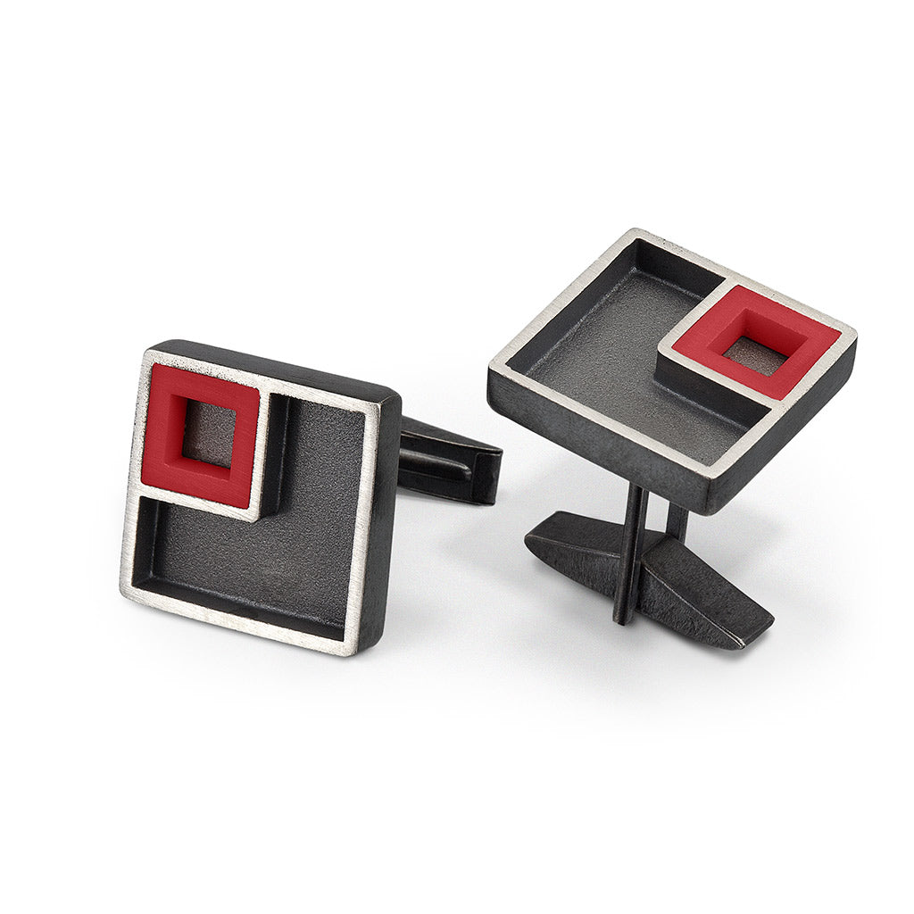 The LEGO® House Inspired Cuff Links