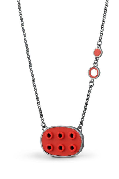 Oval LEGO® negative space pendant