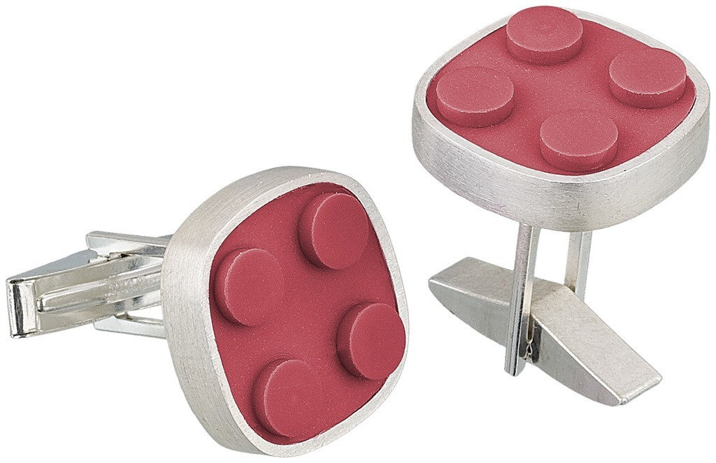 Rounded brick cuff links