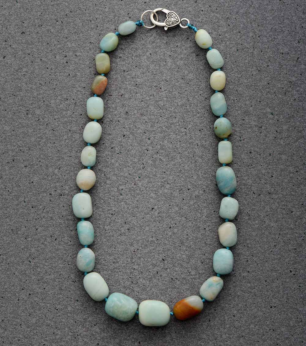 Nostalgia Boho  Chokers Necklaces Random Amazonite Short Necklace J