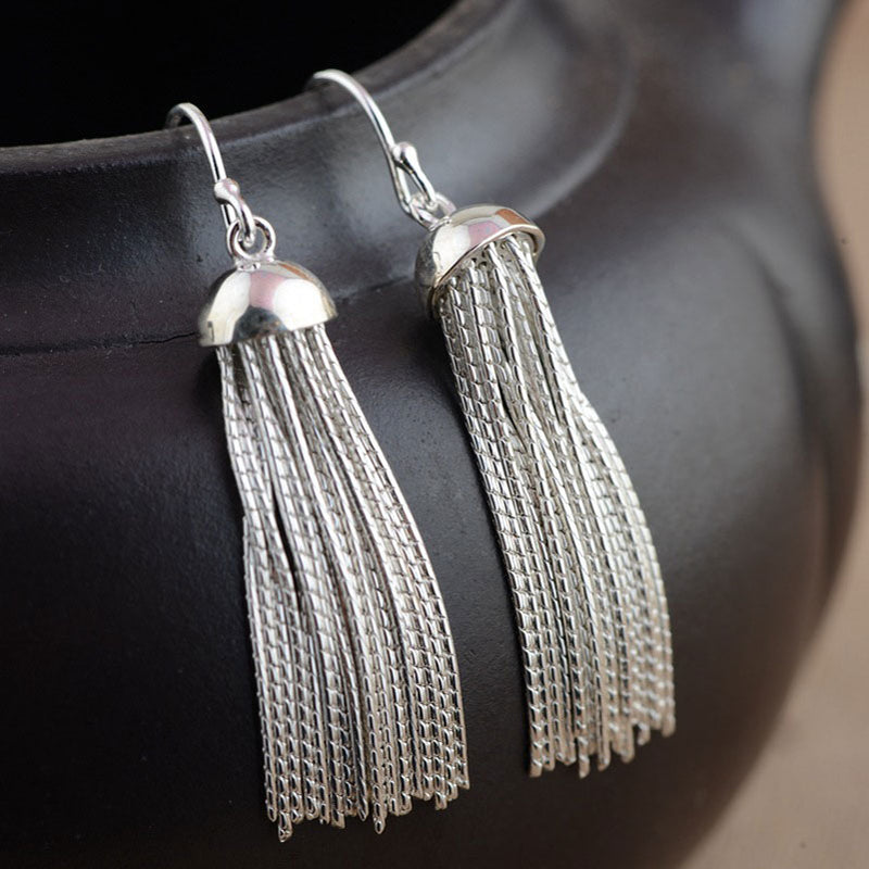 2018  Sterling Silver Long Earring - Nostalgiastyles Clothing Store Co.