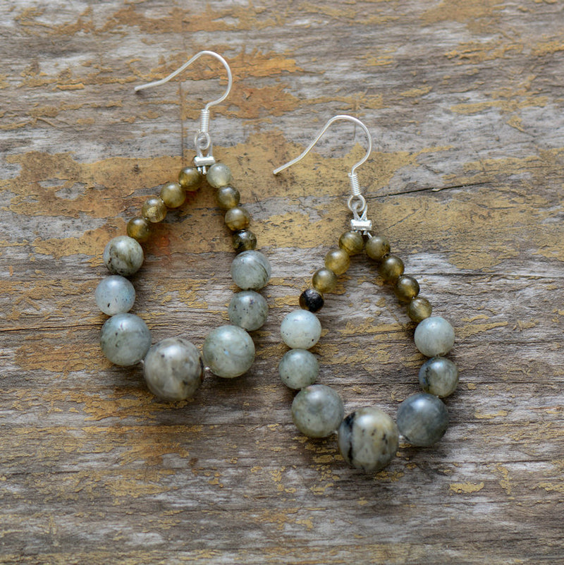 Nostalgia Stone Earrings Graduated - Nostalgiastyles Clothing Store Co.