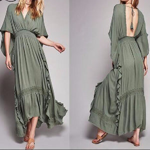 Kimono Tunic Beach Dress Women Summer Boho Chic - Nostalgiastyles Clothing Store Co.