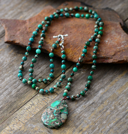 Nostalgia Bohemia Beads Knotted Women Necklace - Nostalgiastyles Clothing Store Co.
