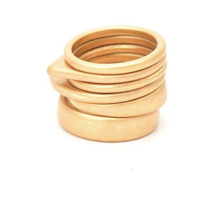 Nostalgia  6 pcs Vintage Gold Zinc Alloy Finger Ring - Nostalgiastyles Clothing Store Co.