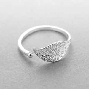 2018 Nostalgia sterling silver fashion simple leaf ring - Nostalgiastyles Clothing Store Co.