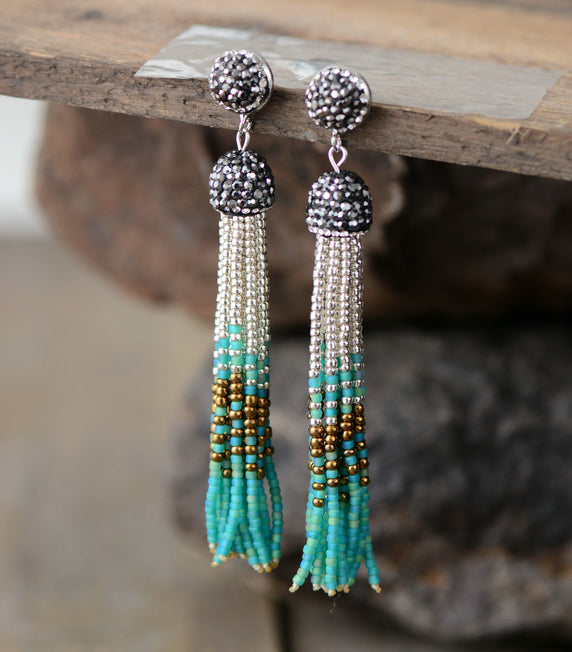 Nostalgia Tassel Earrings Fashion Seed Beads - Nostalgiastyles Clothing Store Co.