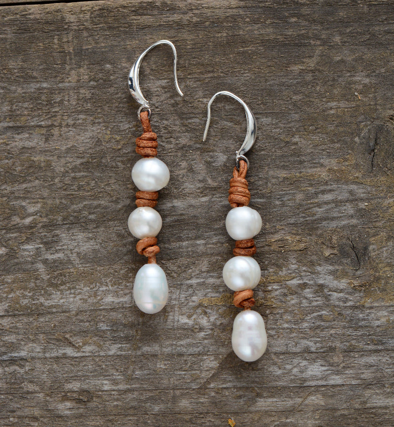 Nostalgia  Pearl Earrings Freshwater - Nostalgiastyles Clothing Store Co.