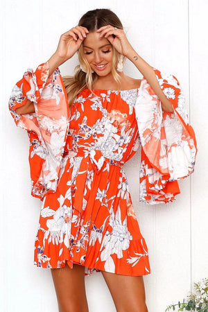 Nostalgia Styles Clothing Co Floral Printing Beach Dress - Nostalgiastyles Clothing Store Co.