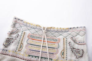 2019 Nostalgia boho Bohemian Cotton Embroidery Gypsy Skirt. - Nostalgiastyles Clothing Store Co.