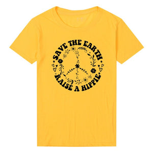 Nostalgia Save The Earth T Shirt Raise A Hippie Women