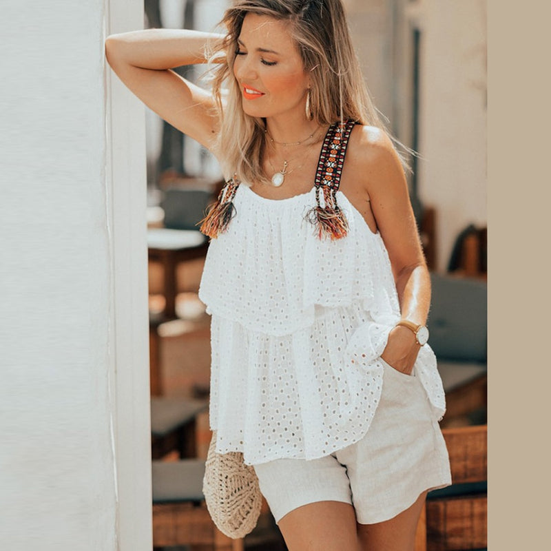 2019 Nostalgia white Boho HIPPIE  blouse dress - Nostalgiastyles Clothing Store Co.