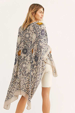 Nostalgia Boho Long Jacket Bat Sleeve Loose Women Jackets Boho