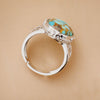 Nostalgia Hippie Gypsy Big Stone Rings New Fashion Silver Color Turquoises