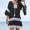 Nostalgia bohemian Bamboo Cotton Summer Pareo Beach Cover Up