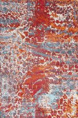 Aqua-Silk Abstract Multi Coloured Rug