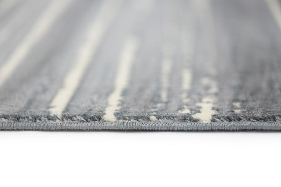 Aqua-Silk Faded Stripes Grey Rug