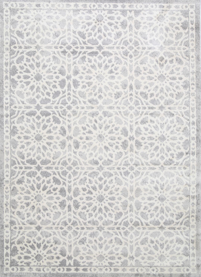 Matisse Grey Damask Rug