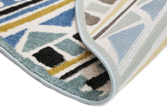 Piccolo Tribal Blue Yellow Rug