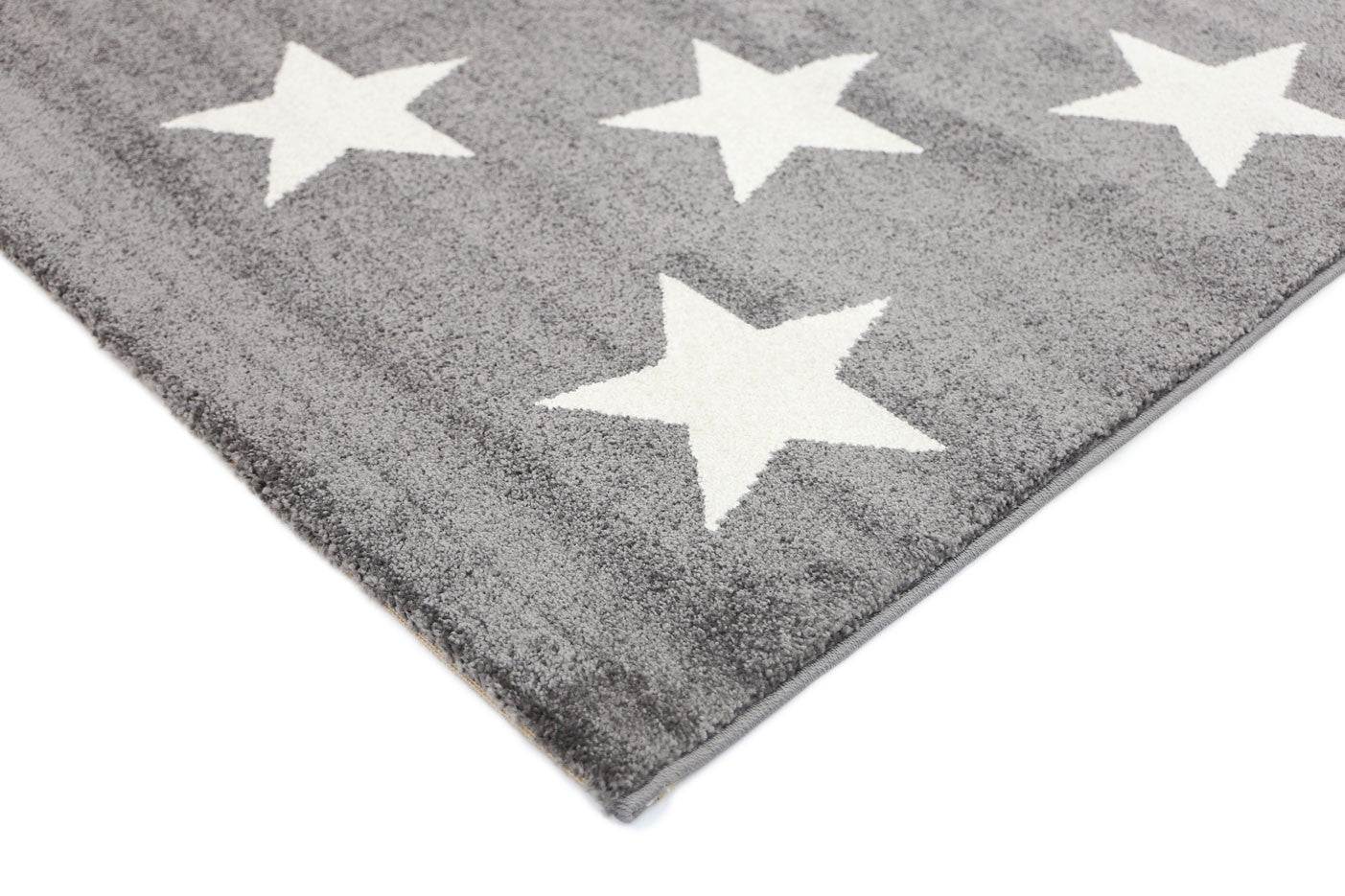 Piccolo Stars Charcoal White Rug