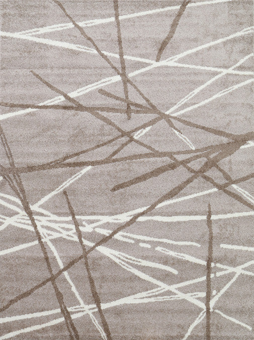 Pablo Stripes Lines Abstract Rug - Beige Brown