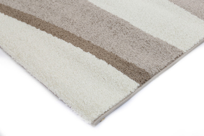 Pablo Swirls Waves Rug - Beige Brown