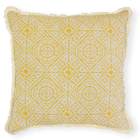 Amalfi Ochre Cushion