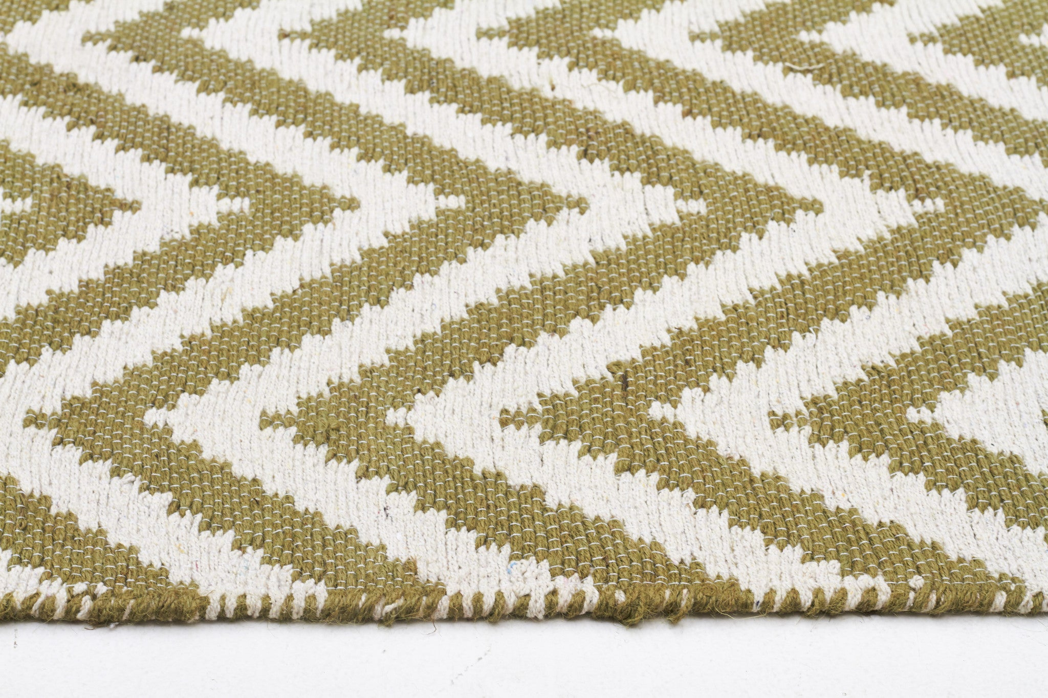 Abode Chevron Rug - Green