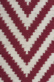 Abode Chevron Rug - Red