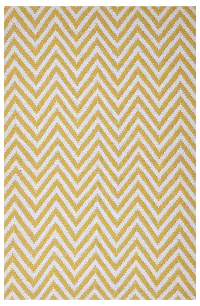 Abode Chevron Rug - Yellow