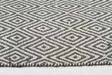 Abode Diamond Rug - Blue