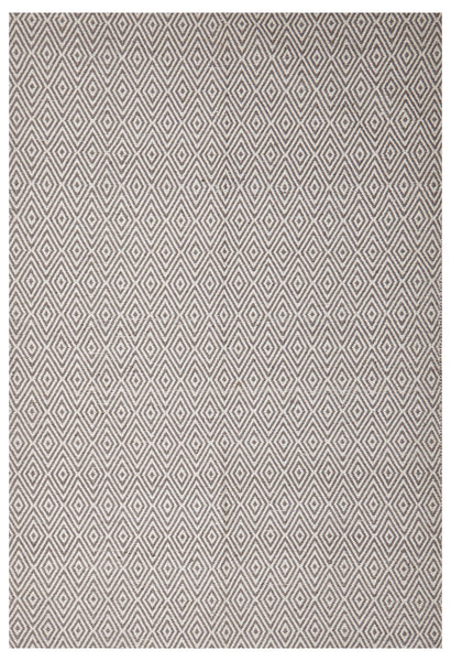 Abode Diamond Rug - Grey