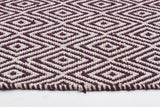 Abode Diamond Rug - Purple
