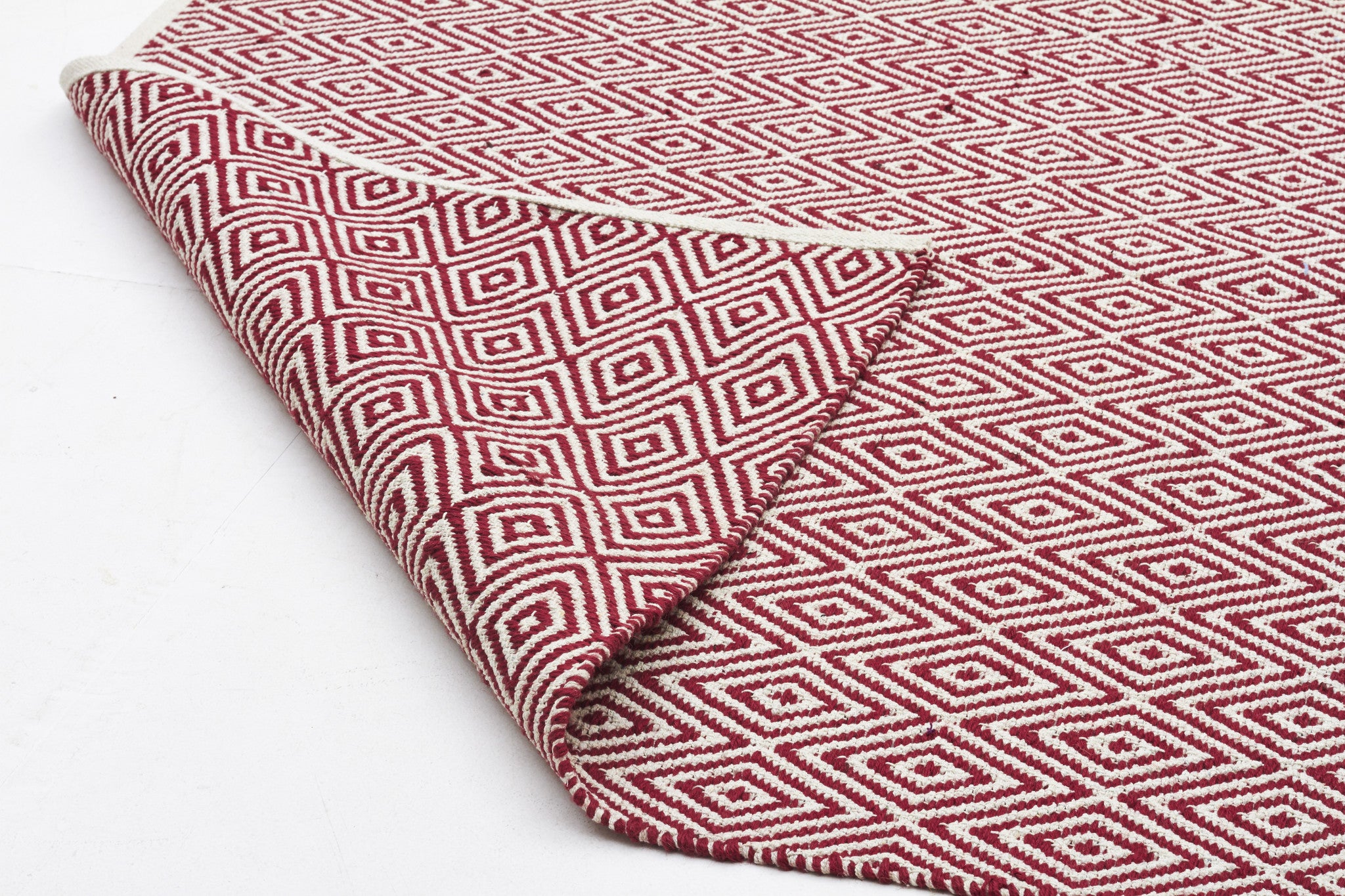 Abode Diamond Rug - Red