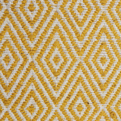 Abode Diamond Rug - Yellow