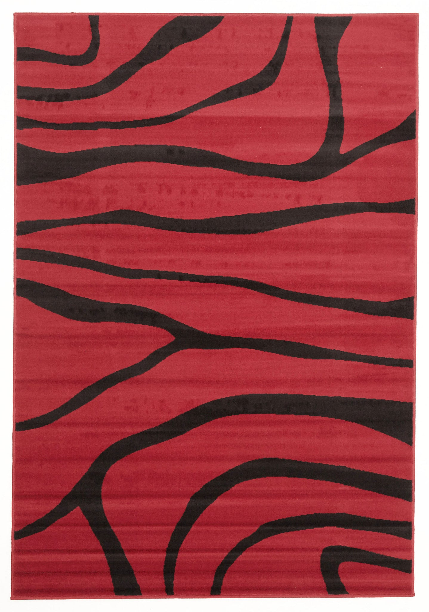 Silver BCF 1003 R55 Rug - Red Black