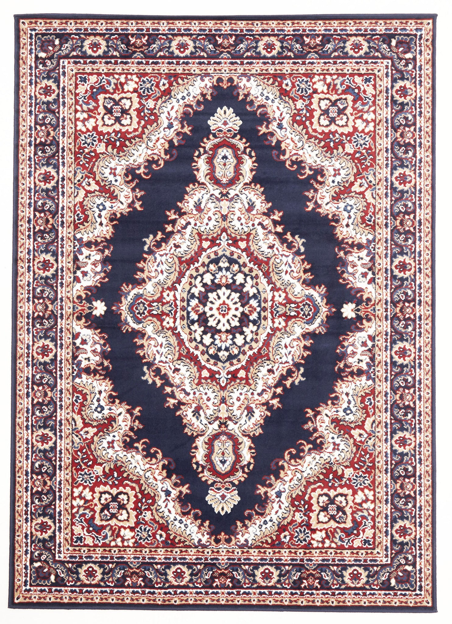 Traditional Medallion Rug Blue