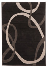Silver BCF 1056 H11 Rug - Black Grey