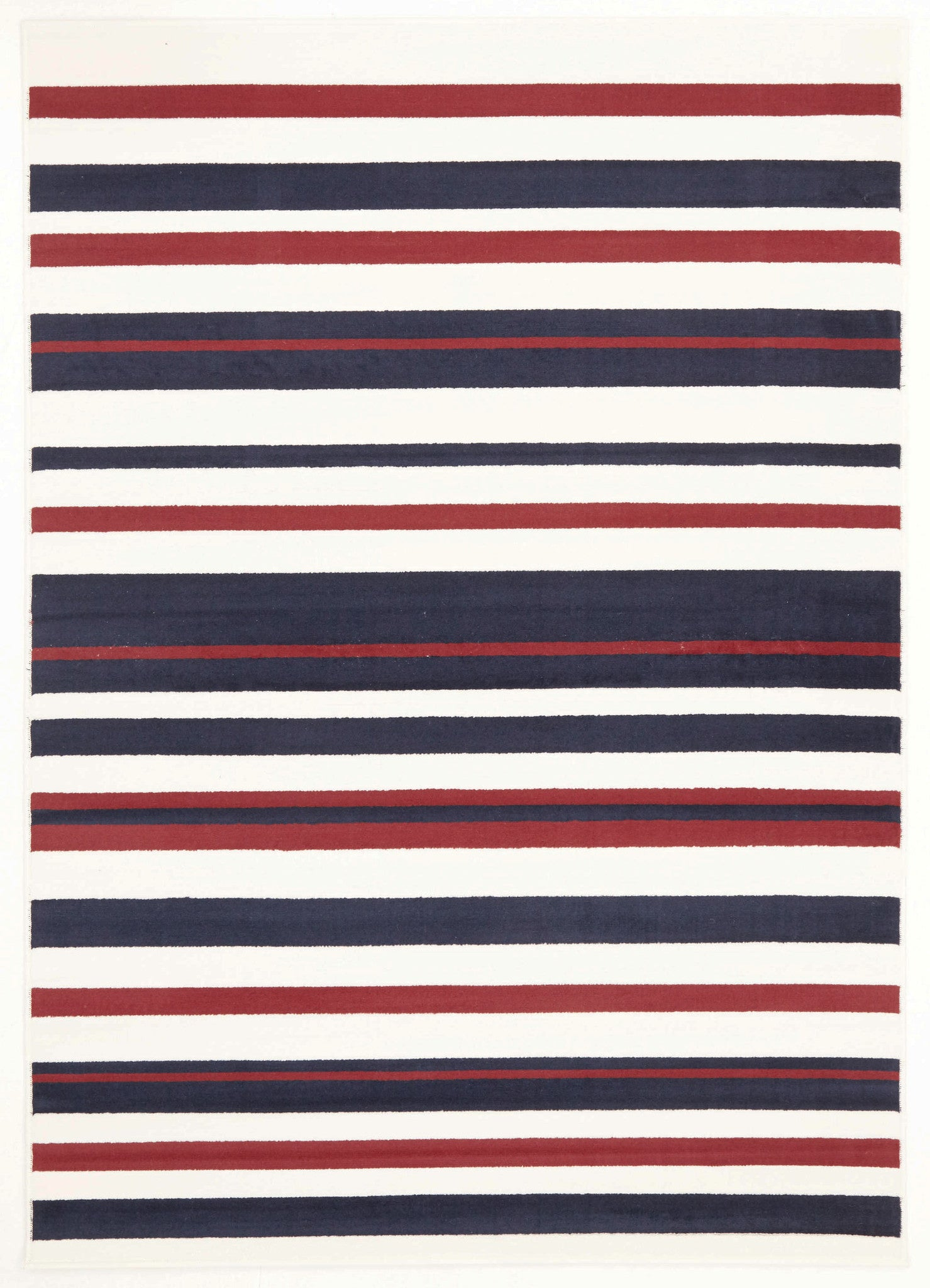 Silver BCF 1114 X44 Rug - Blue Red White