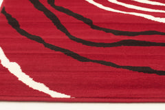 Silver BCF 1150 R55 Rug - Red Black White
