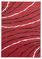 Silver BCF 1151 R55 Rug - Red Black Off White