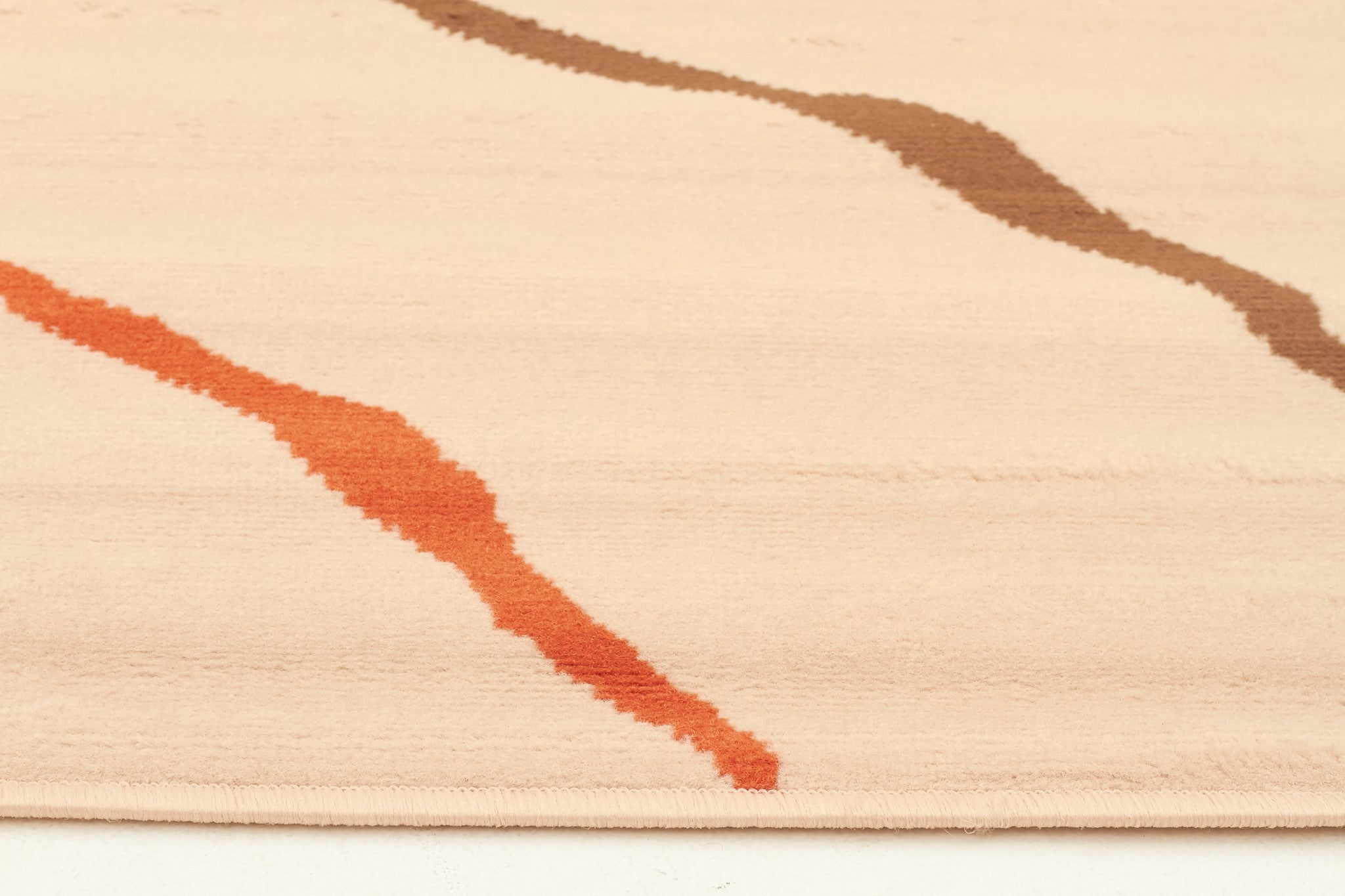 New Stripe Rug Cream Beige Brown