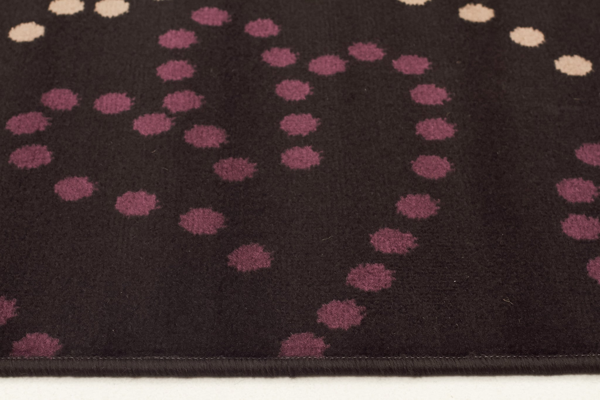 Art Deco Rug Black Grey Purple